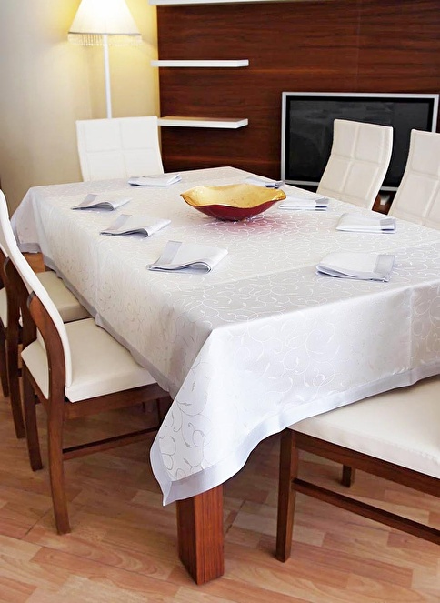 Dekoreko Masa Örtüsü Gümüş